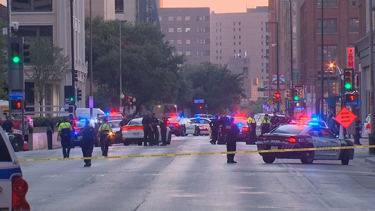 Deadly shootout in downtown Dallas