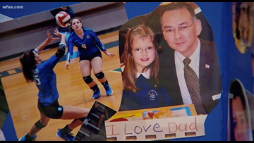 Dallas police officers attend senior night in support of fallen officer's daughter