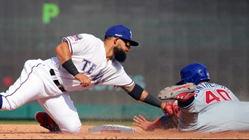 Andrus, Mazara homer but Rangers drop season opener to Cubs, 12-4