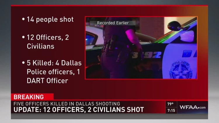 What we know: 12 officers, 2 civilians shot