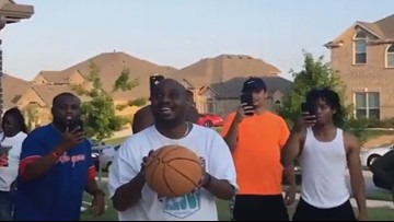 Choosing joy: The story behind the viral basketball shot made by a blind man from Grand Prairie