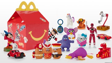 McDonald's celebrates 40th anniversary of Happy Meal with special throwback toys