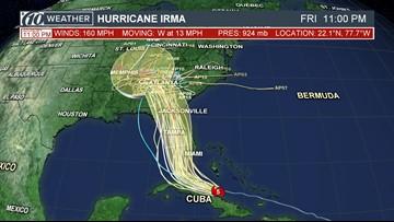 National Hurricane Center: Irma maintaining strength as Cat 5 storm
