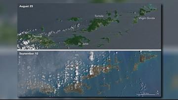NASA photos show Hurricane Irma's destruction to Caribbean