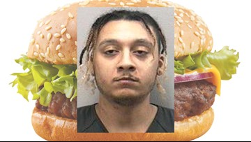 Florida man accused of slapping girlfriend with cheeseburger
