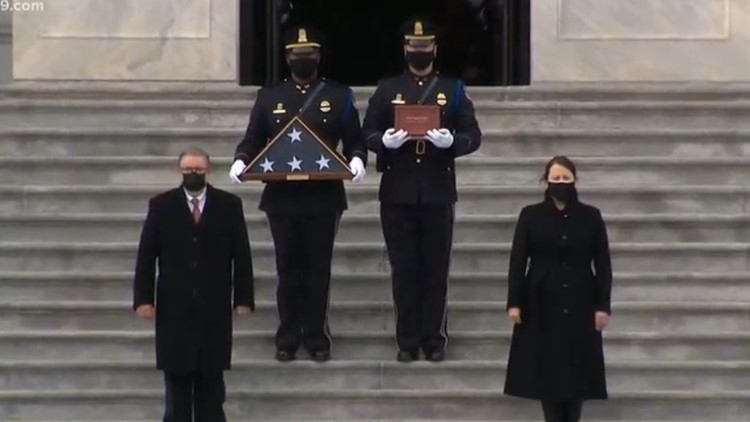 Watch Live: Officer Brian Sicknick to depart U.S. Capitol for Arlington National Cemetery