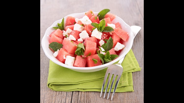 <p>Fresh & fruity watermelon salad adds so much vibrancy to your barbeque spread! </p>