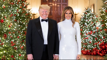 White House unveils official Christmas portrait